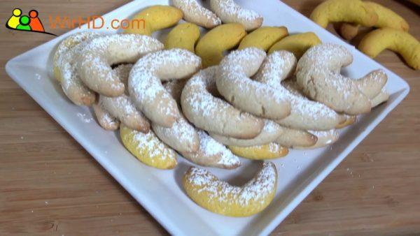 Bananenkipferl Rezept, Vanillekipferl ohne Mandeln backen